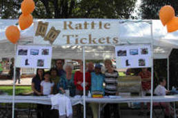 Photo of Raffle Ticket Sales Booth